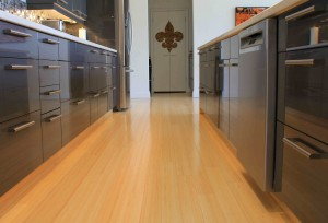 Many bamboo flooring styles are many times harder than oak, making them suitable for high traffic areas like kitchens. (photo: John Bleasby)