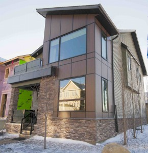 The contemporary design of Mattamy's first ZNE home is sure to attract attention in Calgary's CityScape community