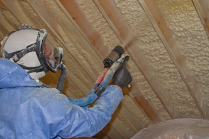 Using spray foam on basement ceilings reduces noise and significantly reduces the chance of moisture and mildew