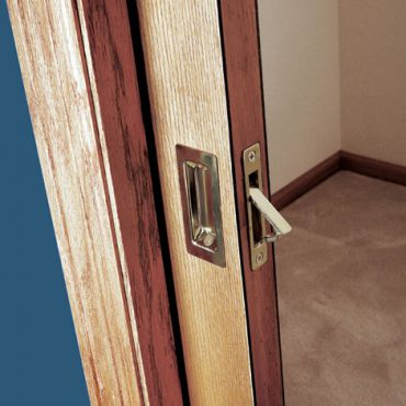 Personally, I've had it with fiddly latches and finger handles on closet pocket doors!