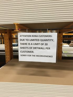 Many customers made a run for the shelves when the tariff was first announced, resulting in supply issues in some areas.