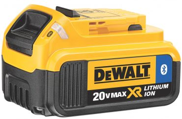 DeWalt has chosen to add BlueTooth connectivity via their 20V battery packs (rather than the tool body), available at a slight price premium to the regular battery packs