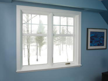 JELD-WEN vinyl window with winter scene