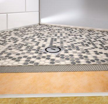 """Thin Shower Tray Schluter KERDI-SHOWER-TT 48/"""" x  48/"""" Center Drain Place..."""