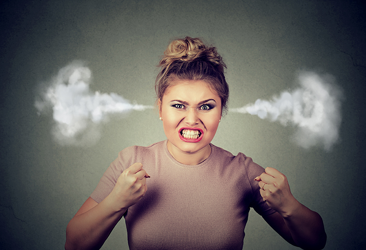 angry woman blowing steam coming out of ears | Canadian Contractor